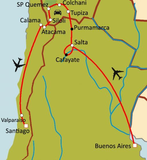Trilogie Andine : Argentine - Chili - Bolivie