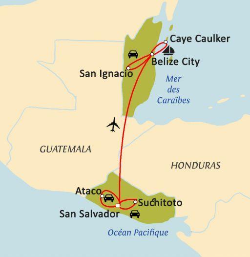 SALVADOR - BELIZE, DU PACIFIQUE AUX CARAÏBES