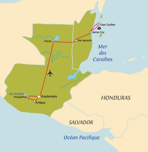 GUATEMALA – BELIZE, ENTRE JUNGLE MAYA ET CARAIBES