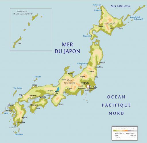 Carte touristique Japon