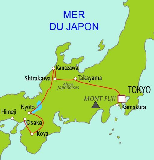 Carte du circuit Éternel Japon