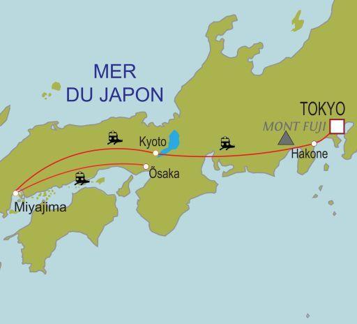 Carte du circuit Japon, l'île sacrée