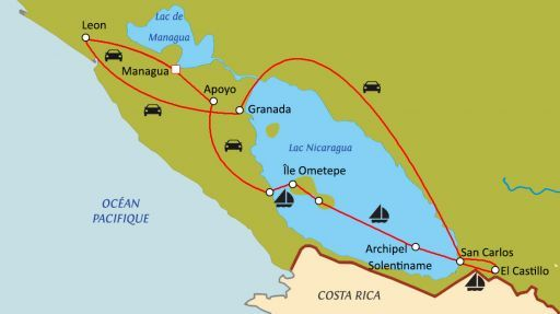 Lacs et volcans du Nicaragua avec chauffeur