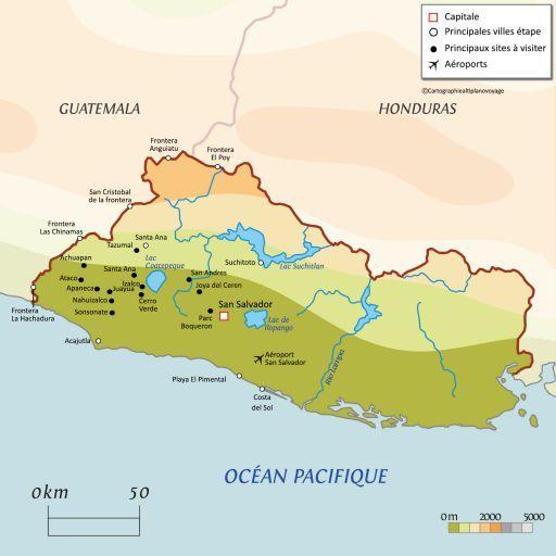 Carte touristique Salvador