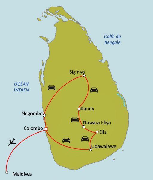 Sri Lanka - Maldives : Perles de l'océan indien